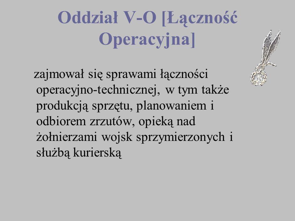 Oddział V-O [Łączność Operacyjna]